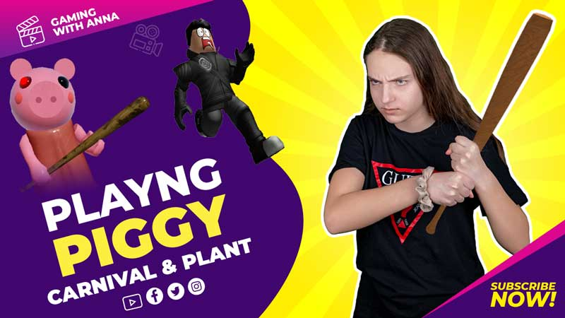 PLAYING PIGGY ROBLOX OMG Scary Gameplay 2020 – CARNIVAL AND PLANT WITH ANNA