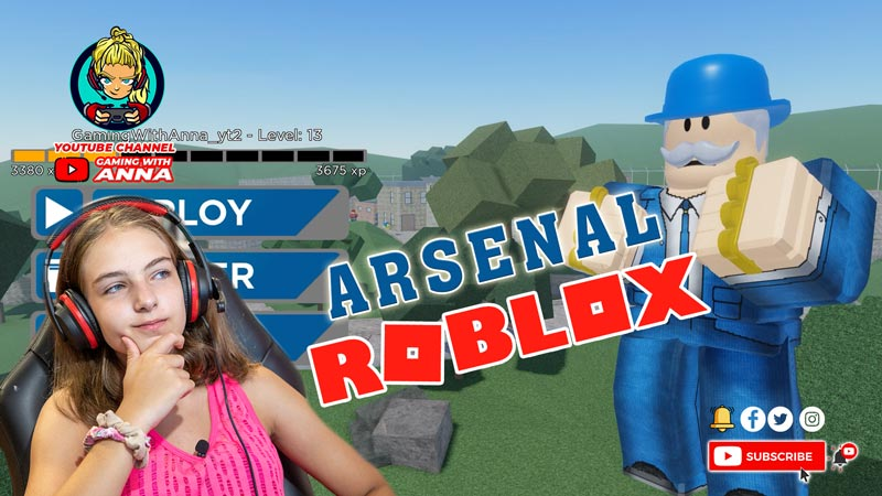 Playing-Roblox-Arsenal-Game-2020